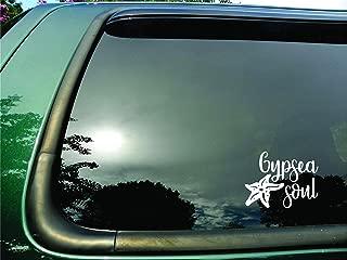 Gypsea Soul Starfish White- Die Cut Vinyl Window Decal/sticker for Car/Truck/Laptop 6.5