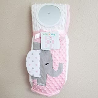 Superior Soft Baby Blanket - Patch and Play Activity - Great Baby/Toddler Gift (Pink)