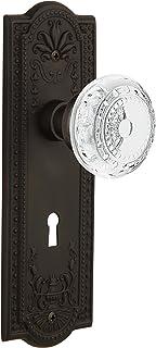 "(oil-rubbedbronze, 2-3/4"") - Nostalgic Warehouse Meadows Privacy Door Knob with Meadows Plate"