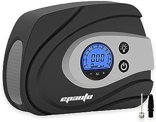 EPAuto 12V DC Auto Portable Air Compressor Pump, Preset Digital Tire Inflator by 100 PSI for Compact/Midsize Sedan SUV