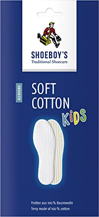 SHOEBOY'S Soft Cotton Kids - Cotton Insole for feet Without Socks - Size 9