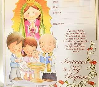 DPW Baptism Bautizo Christening Party Invitations English Invitaciones Virgencita Baby Fiesta 10PC