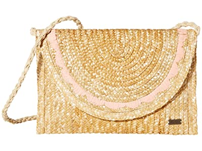 Roxy Salty But Sweet Small Straw Shoulder Bag (Natural) Bags