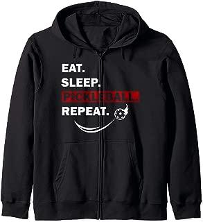 Eat Sleep Pickleball Repeat funny gift for women men Zip Hoodie