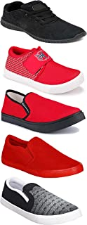 WORLD WEAR FOOTWEAR Sports Running Shoes/Casual/Sneakers/Loafers Shoes for MenMulticolors (Combo-(5)-1219-1221-1140-720-781)