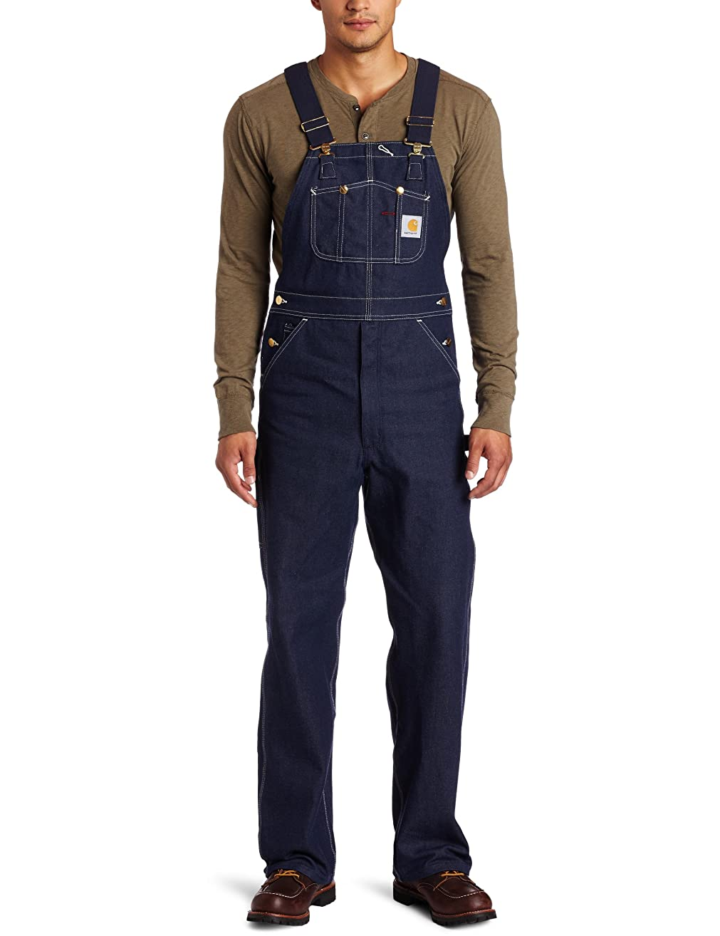 Carhartt Men's Denim Unlined Bib Overall R08