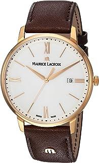 Maurice Lacroix - Reloj Analógico para Hombre de Cuarzo con Correa en Cuero EL1118-PVP01-112-1