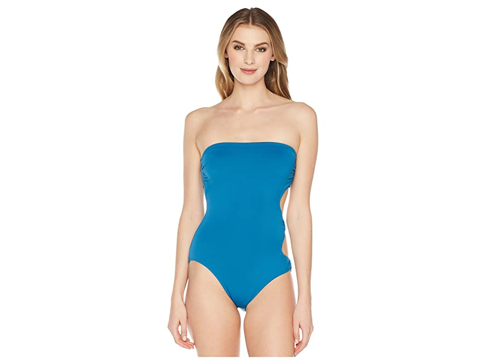 Vince Camuto Shore Shades Ring Side Bandeau One-Piece (Marine) Women