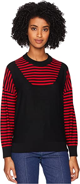Finewool Stripes Long Sleeve Sweater