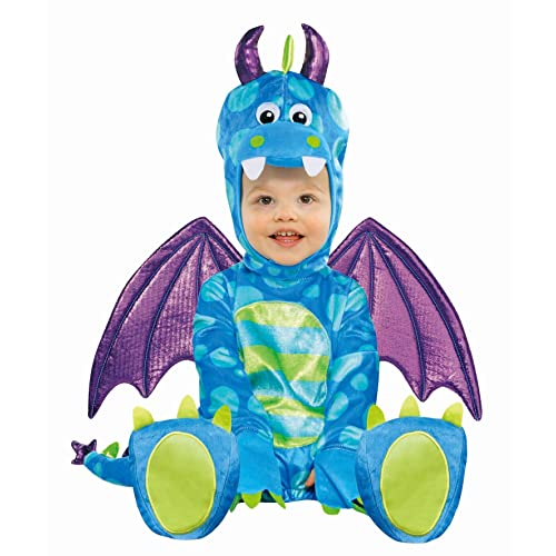 Amscan International Revestimiento trajes de carnaval Little Dragon 6-12 Meses
