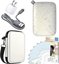 """HP Sprocket Select Pocket Printer Instant Wireless Photo Printer for Android and iOS, Includes 2.3 x3.4"""" Zink Photo Paper Sticker (30 Sheets), Protective case and USB Charging Cable with Wall Adapter"""