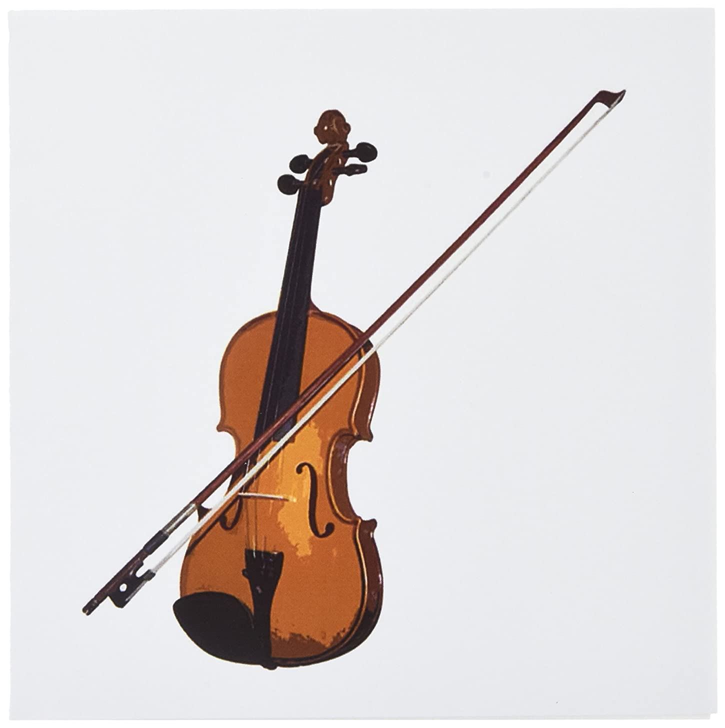 3dRose Violin - Greeting Cards, 6 x 6 inches, set of 6 (gc_1269_1)