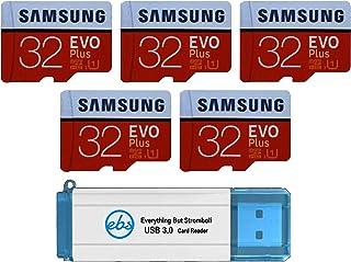 سامسونج 32 جيجا بايت بطاقة ذاكرة Evo Plus MicroSD (5 حزم) بطاقة ذاكرة SDHC الفئة 10 مع محول (MB-MC32G) حزمة مع (1) كل شيء ...