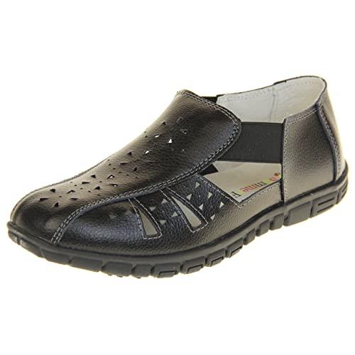 be55fb9eb5d Footwear Studio Coolers Womens Leather Wide Fit EEE Sandals Shoes