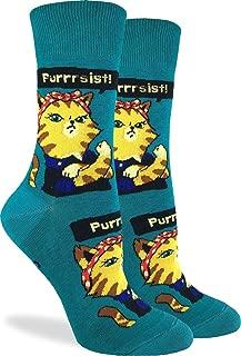 Women's Purrsist Cat Socks - Green, Adult Shoe Size 5-9