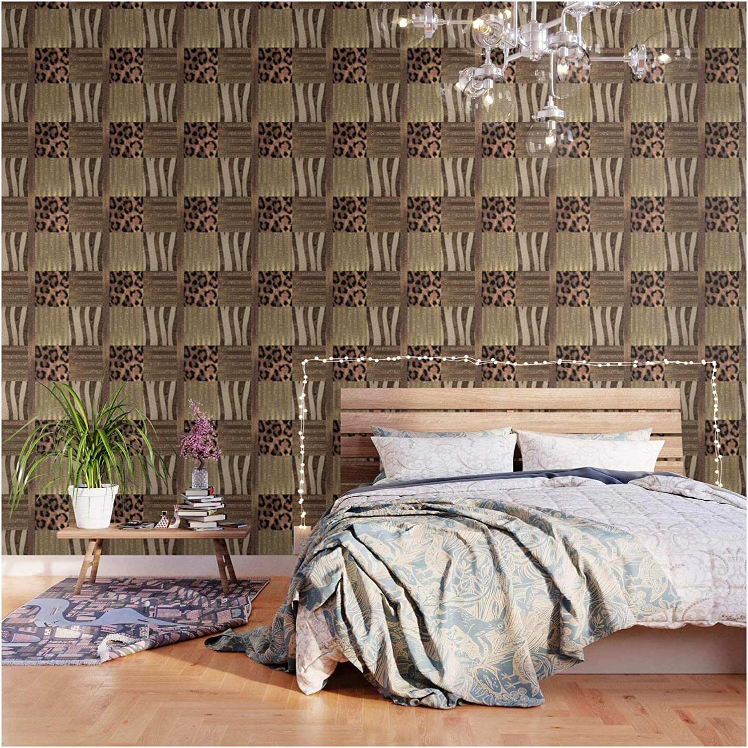 Gold Lioness Safari Chic by Christyne and Wallpape on Stick All items in the Max 65% OFF store Peel