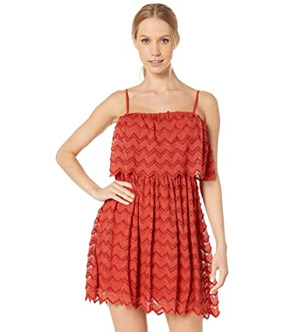 BCBGeneration Strapless Overlay Dress TGP6215158 (Rust) Women