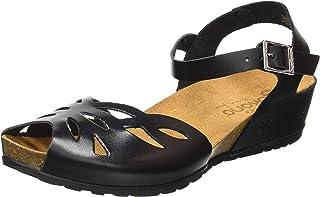 1ec2cb5bc75 Yokono Capri 003 Vaquetilla Negro, Sandalia con Pulsera para Mujer