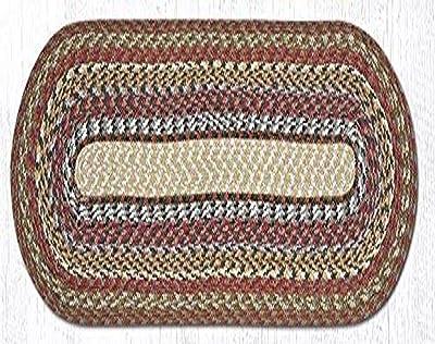 Earth Rugs 43-300 Honey-Vanilla-Ginger Oval Table Runner