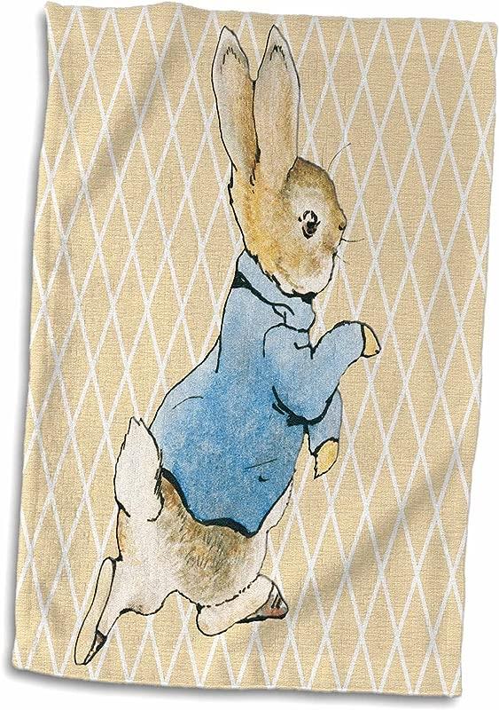 3D Rose Peter Rabbit Vintage Art Animals Hand Sports Towel 15 X 22
