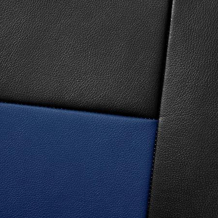 2er Set Saferide Autositzbezüge Transporter Universal Bus Sitzbezüge Kunstleder Blau Für Airbag Geeignet Für Vordersitze 1 2 Autositze Vorne Nicht Teilbar Auto