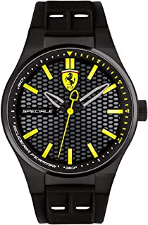 Scuderia Ferrari Men's Black Dial Silicone Band Watch - 830354