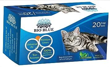 Bio Blue Cat Litter Box Liners - Eco Friendly - 20 Premium Drawstring Liners Per Box - Universal Fit - Strong, Flexible, Tear Resistant