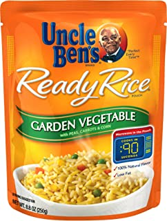 Uncle Ben's Ready Rice: Garden Vegetable Rice (6 Pack), Ready to Heat 8.8 oz Pouches