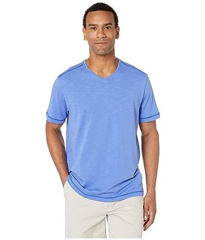 Tommy Bahama Portside Palms V-Neck T-Shirt (Blue Cove) Men
