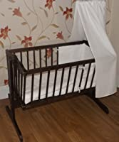 A B C Swinging Crib & Mattress / Suitable from Birth /Choose colour (Walnut)