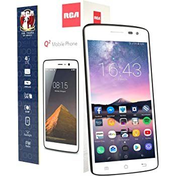 "RCA Q2 Android 9.0 Pie, 5.0"" HD, 4G LTE, 16GB, 8MP 5MP Dual Camera, Dual Sim, Unlocked Smartphone (White)"