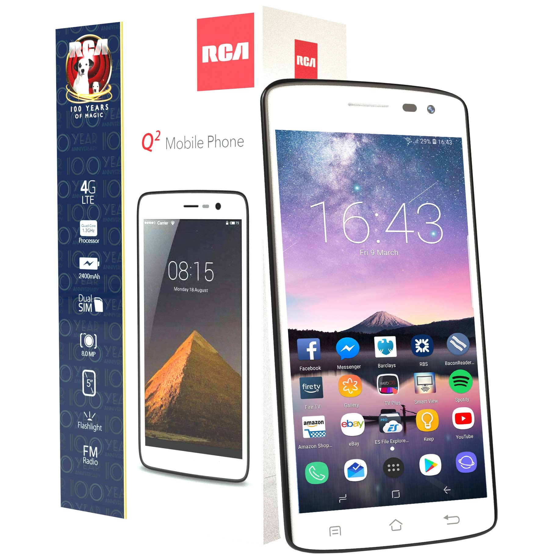 RCA Unlocked Smartphone Android White