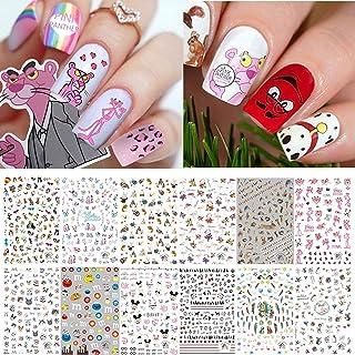 Kalolary Nagel Sticker Set,3D DIY Nagel Art Foils Nagel Tips Kat Hond Konijn Papegaai Nagelstickers 3D Zelfklevend Dier Na...