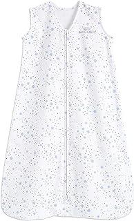 HALO Sleepsack 100% Cotton Wearable Blanket, Midnight Moons Blue, Large