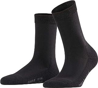 FALKE Socken Wool Balance Schurwolle Damen schwarz blau viele weitere Farben verstärkte Damensocken ohne Muster atmungsaktiv warm dick einfarbig für kalte Tage mit Plüschsohle 1 Paar