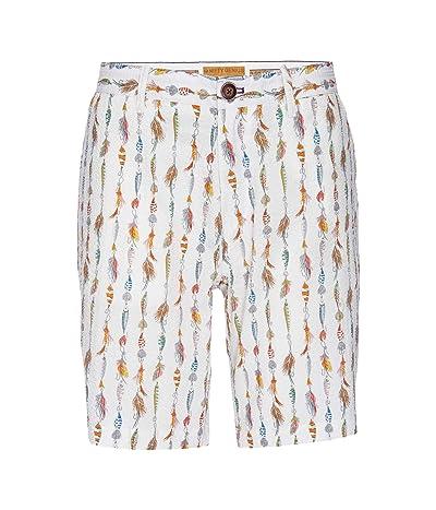 Nifty Genius Morgan Bermuda Stretch Seersucker Fishing Lure Shorts (White) Men