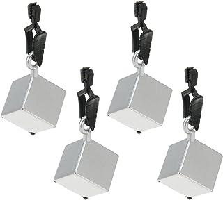 Venilia Tärning bordsduksskärare klämma bordsdukhållare bordsduk vikter av PVC och metall, silver, 8 x 2,5 x 2,5 cm, 54203