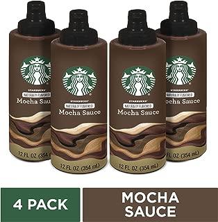 Starbucks Naturally Flavored Mocha Sauce, 4 bottles of 12 fl. oz. (354 mL)
