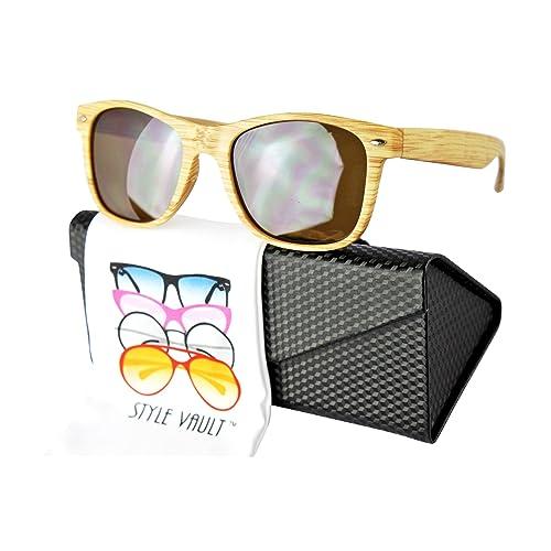3dd80dcd93 W1000 Vintage Retro Vintage Retro 80s  Wood grain Print  Sunglasses glasses