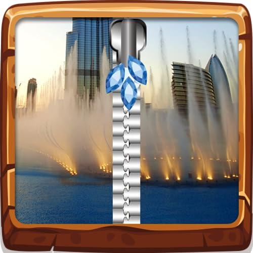 Fountain Zipper Lock Bildschirm
