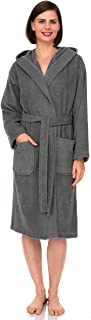 Women's Hooded Robe, Cotton Terry Cloth Bathrobe