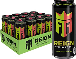 Reign Total Body Fuel, Strawberry Sublime, Fitness & Performance Drink, 16 Ounce (Pack of 12)