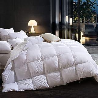 Goose Down Comforter Queen Size Comforter Warmth Duvet Insert - All Season - Luxury 100% Cotton Hypoallergenic 1000 Thread...