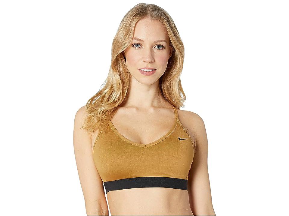 Nike Indy Light Support Sports Bra (Wheat/Black/Black) Women