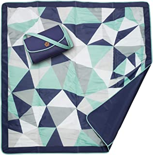 JJ Cole All-Purpose Outdoor Baby Blanket, Lightweight & Water-Resistant, Fractal,..