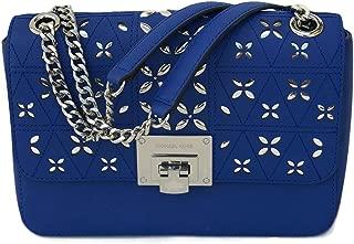 Tina Flora leather Crossbody Shoulder Bag (Electric Blue)