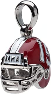 University of Alabama Bead Charm | Stainless Steel Alabama Pendant | Crimson Tide Helmet Charm | University of Alabama Gift | Fits Most Popular Charm Bracelets