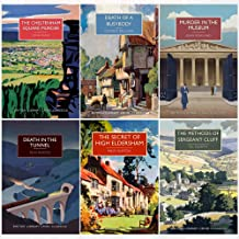 British Library Crime Classics Collection 6 Books Set (Cheltenham Square Murder,Death of a Busybody,Murder in the Museum,Death in the Tunnel,Secret of High Eldersham,Methods of Sergeant Cluff)