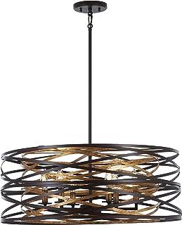 Minka Lavery Pendant Ceiling Lighting 4673-111 Vortic Flow, 6-Light 360 Watts, Dark Bronze