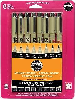 Pigma Micron 005,01,02,03,05,08,1mm Brush